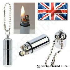 Survie peanut briquet essence capsule fire starter flint striker trousse d'urgence