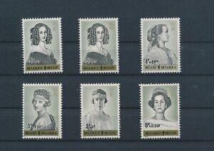 LO11582 Belgium portraits queens royalty fine lot MNH