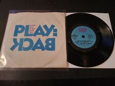 "Play:back AS-47 VG+ Columbia Compact 33 RPM 7"" Record 1973 Iggy And The Stooges"