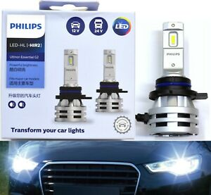 Philips Ultinon LED G2 6500K White 9012 Two Bulbs Head Light Low Beam Upgrade OE
