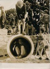 PARIS 1955 - Parc Monceau Jardin d'Enfants - Photo de Presse