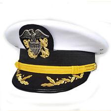 Repro WW2 USN Naval Early Navy Senior Officer's Hat Visors Cap White Eagle Male