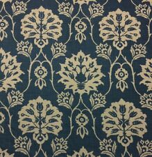 "Kerry Joyce Textiles Simone Lake Blue Floral 100% Linen Fabric By Yard 49""W"