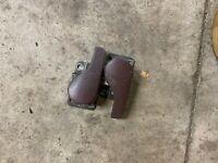 PORSCHE 944 968 DOOR HANDLES INTERIOR MAROON