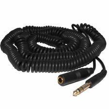 10m COILED 6.35mm 1/4 inch Stereo Jack Extension Lead Male to Female Cable 06222