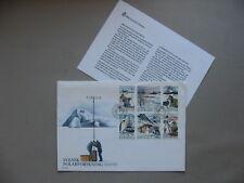 SWEDEN, cover FDC 1989, bookletpane antarctic exploring, penguin aeroplane ship