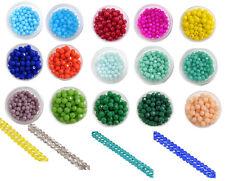 Glasschliffperlen Round Glassperlen  Schnitt Glas perlen 4mm - 50 Stück*
