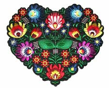 Big Heart Embroidery Sew, Iron On Patch for Clothes, Jeans Fabric Applique DIY