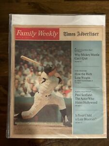 RARE 1967 Family Weekly Times Advertiser  Mickey Mantle New York Yankees