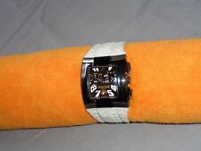 TECHNOMARINE Hummer Black Dial Stainless Steel Model XSMSH With White Band Watch