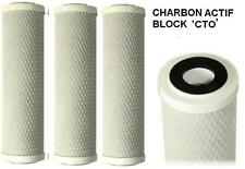 Cartouches filtre à eau anti chlore charbon actif CTO (Le lot de 3)