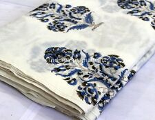 Sold By Yard Hand Block Print Cotton Fabric Indian Design Sanganeri Hand Made
