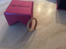 Gold Plated Diamanté Eternity Ring By Miss Behaviour. UK Size P. 7 Available