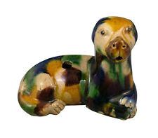Kangxi Chinese Glazed Pottery Figural Dog Water Dropper