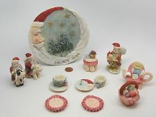 Vintage Lot 19 Santa Country Cow,Pig,Ruster Set Popular Imports Miniature/Mini