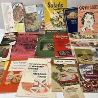 LOT Vintage 1950s-1960s Historical Original Antique Cook Books Cookbooks Canada