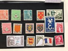 France,  16 MH stamps, all different VF