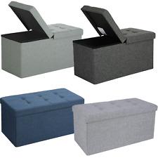 Faltbarer Sitzhocker Sitzbank Ottomane Sitzwürfel Sitztruhe aufbewahrungsbox