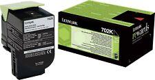 1 x Lexmark 702K Black Original OEM Toner Cartridge CS310, CS410, CS510 - 1000k