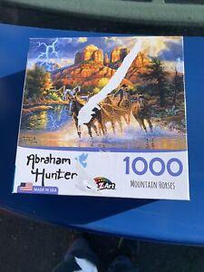 CraZArt 1000 Piece Puzzle Mountain Horses Abraham Hunter