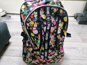New  Backpack,Tokidoki Style Anime, winter scene Cartoon Design + small Bag