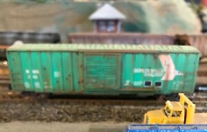 N,Microtrains,Berlin Mills 50' box custom painted,weathered,w/low profile wheels