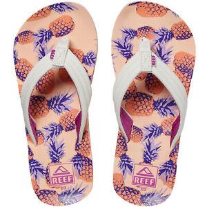 Reef Unisex Childrens Kids AHI Casual Beach Pool Sandals Thongs Flip Flops