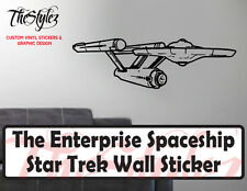 Star Trek Enterprise Spaceship Oversize Wall Vinyl Sticker