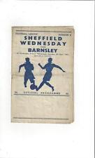 Sheffield Wednesday v Barnsley 1947/48 Football Programme