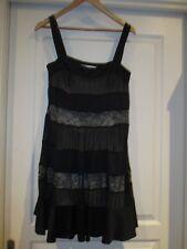 Beautiful Black Silk Dress. Diane von Furstenberg. Size 12.