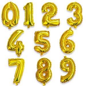 16/32inch Number Aluminum Foil Balloons Rose Gold Silver Birth day balloons New