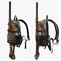 Tourbon Hunting Backpack Gun Rifle Carrying Holder Molle Bag Daypack Camo Camp