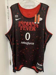 Indiana Fever Kelsey Mitchell 2021 Nike Rebel Stranger Things edition jersey XXL