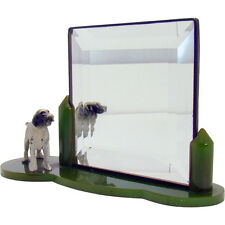 English Setter Bakelite Vanity Mirror - 1930's - Rare