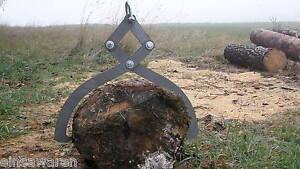 Holzzange Schleppzange unmontierter roher Zustand Größe L