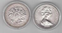 ISLE OF MAN – SILVER MATTE 1 CROWN COIN 1980 YEAR KM#65a SUMMER MOSCOW OLYMPIC