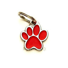 Engraved pet id tags MjavHov, PAW RED