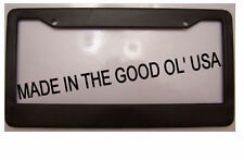 BLACK PLASTIC FRAME blank with no advertisement or text ad  License Plate Frame