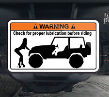 Jeep Check Lube Warning Hitch Cover 4x4 CJ TJ YJ XJ
