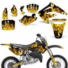 Decal Graphic Kit Honda MX CR85R Bike Sticker Wrap with Backgrounds 03-07 ICE Y