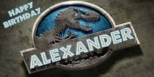 Birthday banner Personalized 4ft x2ft  Jurassic Park Jurassic World Dinosaur