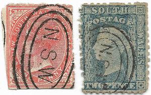 Nouvelle Galles du Sud, 1860 / 1862 - Livraison offerte dès 5 lots achat groupé
