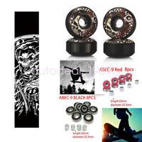 NEW Sport Skateboard Grip Tape & UGIN 52mm Wheels & abec-9 Bearings+Spacers Set