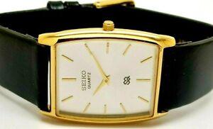 Asseiko quartz super slim men's gold plated japan made watch run order