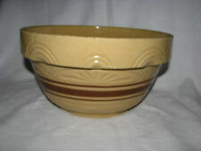 Robinson Ransbottom Pottery RRP Large Yellow Ware Brown Band Mixing/Bread Bowl