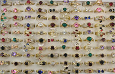 47pcs Charm Cubic Zircon Wedding Jewelry Mixed Lots Lady's Rings Gold P EH591