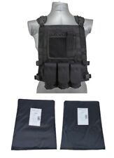 Tactical Scorpion Level IIIA 3A Soft Body Armor Plates Insert + Wildcat vest