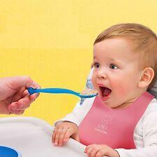 Adjustable Soft Plastic Baby Feeding Bib Neck Catch Waterproof 4 Color to Choose