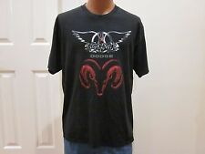VINTAGE AEROSMITH T SHIRT 2001 JUST PUSH PLAY TOUR GRAB LIFE BY THE HORNS DODGE