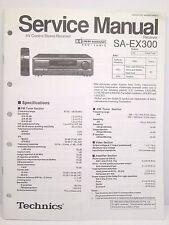 Technics Original Service Manual SA-EX300 Receiver